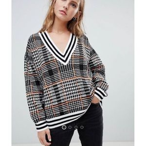 ASOS Oversized Plaid Sweater